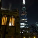 "86/365 - The Shard and Southwark Cathedral at night • <a style=""font-size:0.8em;"" href=""http://www.flickr.com/photos/64654599@N00/13458081784/"" target=""_blank"">View on Flickr</a>"